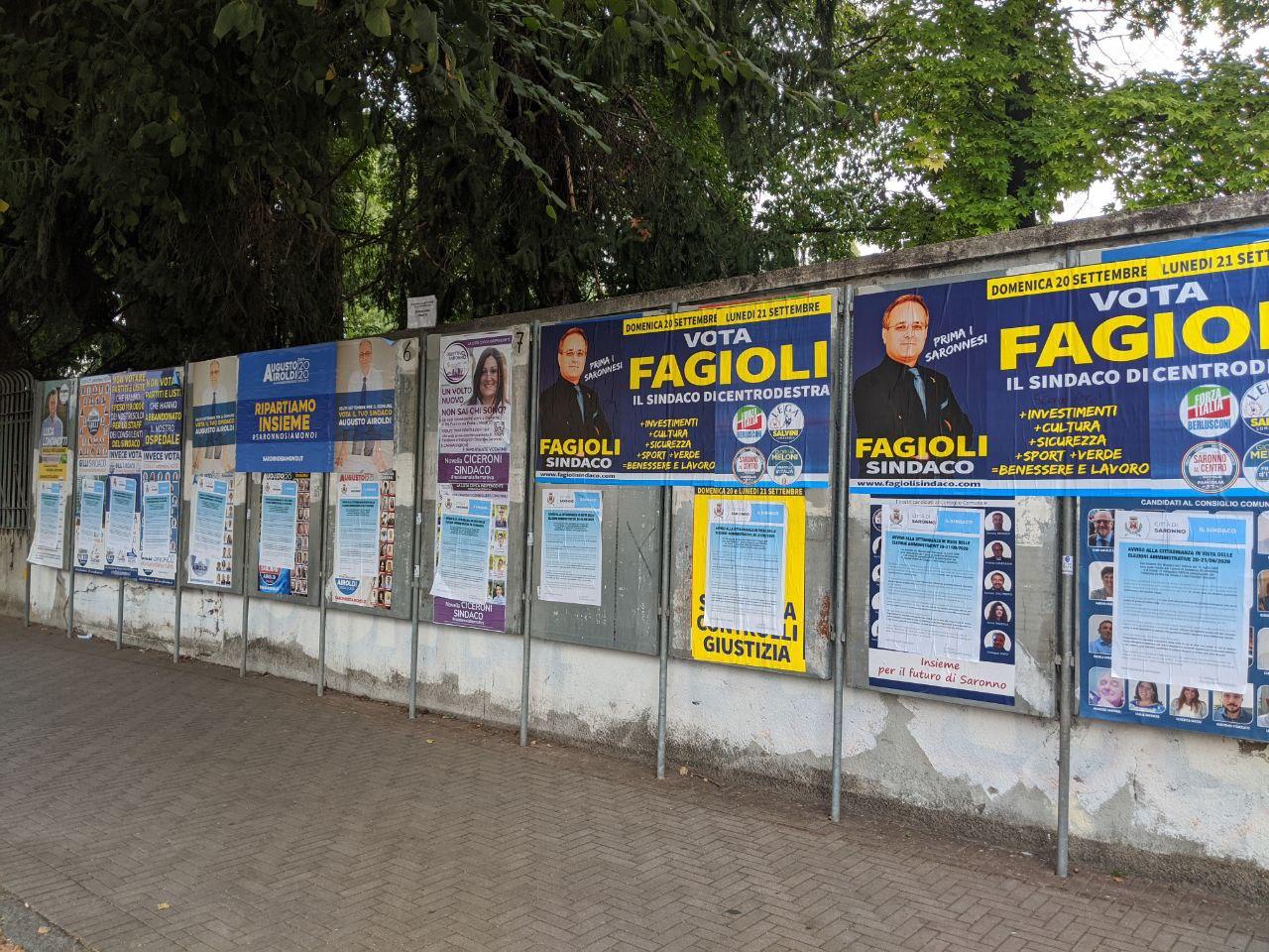 Elezioni Saronno campagna elettorale incandescente