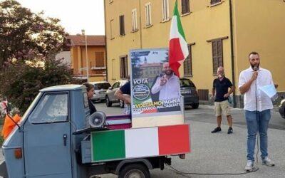 Elezioni Cuggiono, l'Ape tour di Maltagliati tra la gente