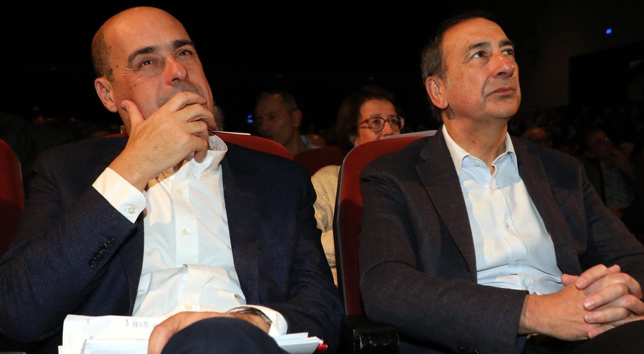 Elezioni Saronno 2020 Zingaretti e Sala